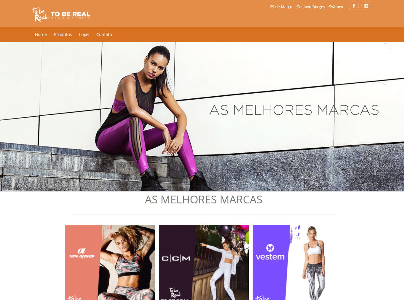 To Be Real - Moda Praia e Fitness