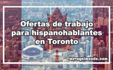 Ofertas de trabajo para españoles en Toronto