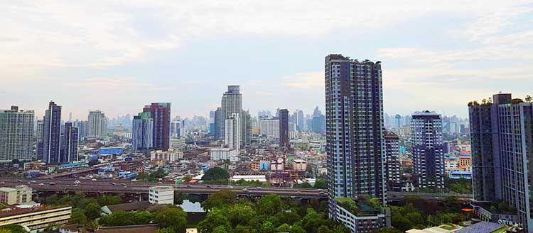 Barrio de On Nut, en Bangkok