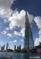 Burj Khailfa looking like it's bent