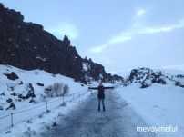North American tectonic plate at Thingvellir National Park