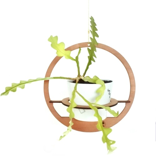 plantenhanger, hout