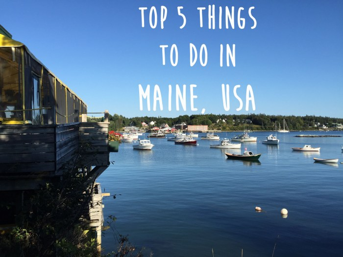 Top things to do in Maine