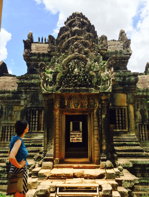 Second day in Angkor Complex Cambodia