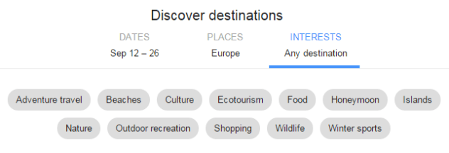 google flights terrains