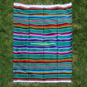 Green Wool Serape