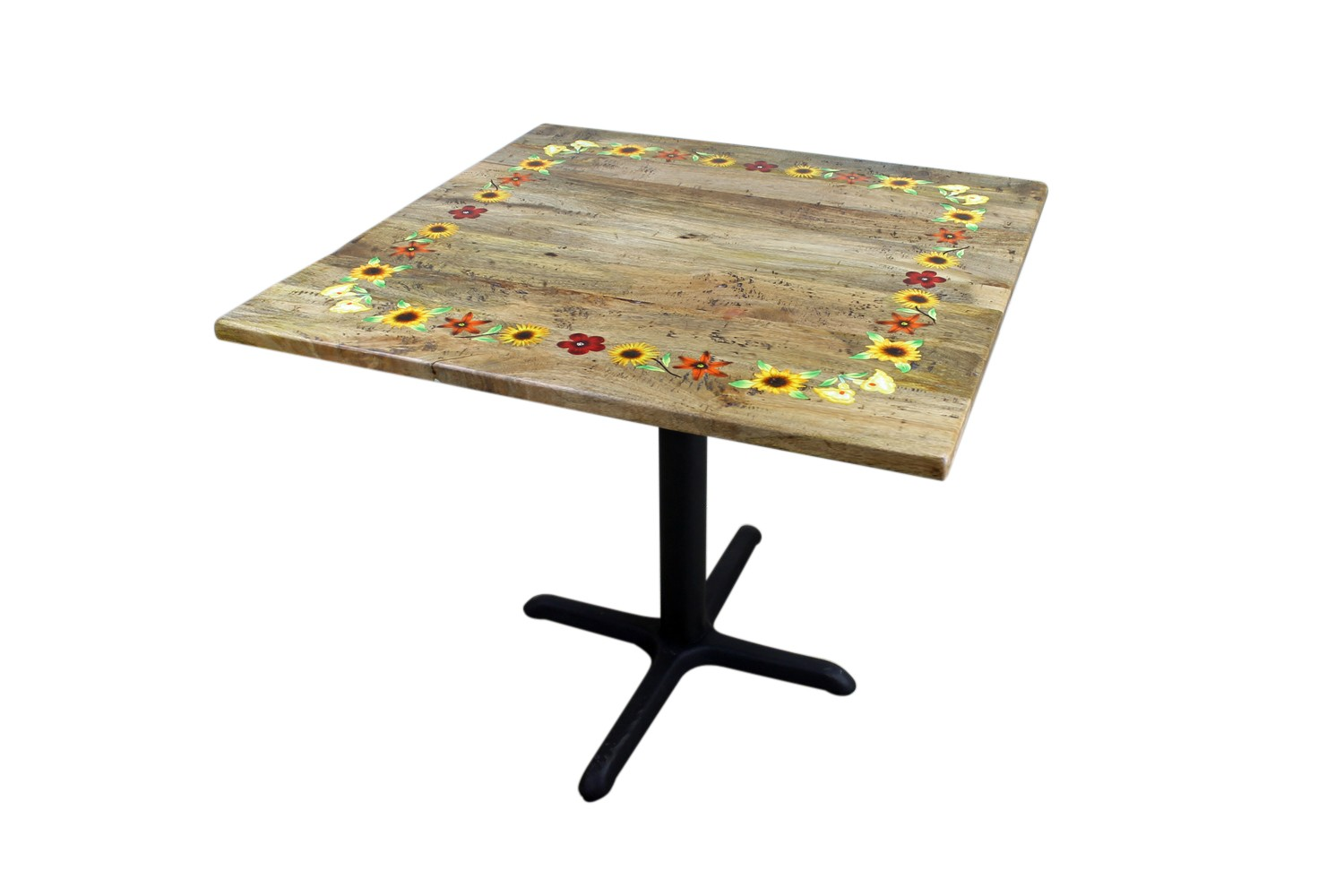 fiesta hand painted rustic dining room table mexican on hand painted dining room tables id=69308