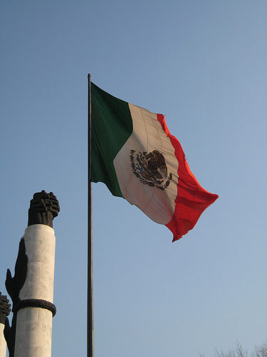 Chapultepec Park - Mexican Flag by bradleyolin