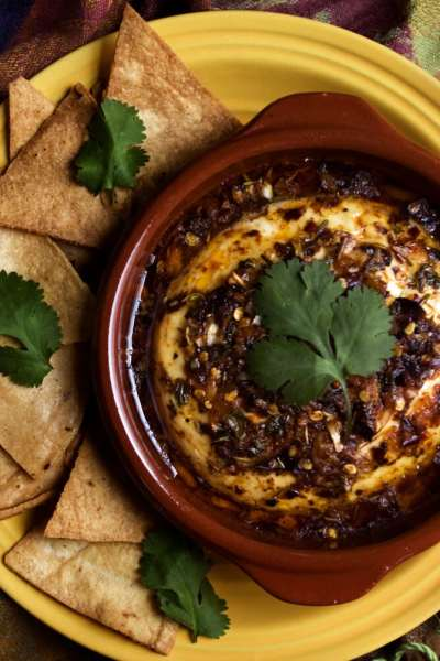 Baked Panela Cheese with Herbs and Pepper Flakes by @SpicieFoodie | #mexican #appetiser #glutenfree