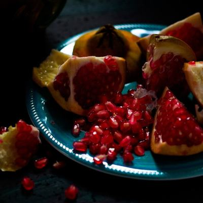 The Easiest Way to Cut Open a Pomegranate