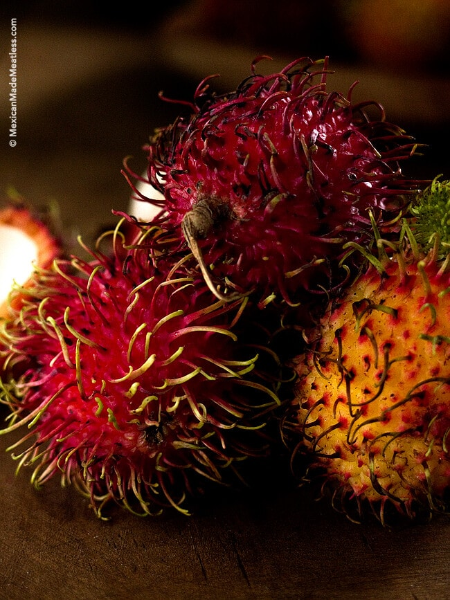 Rambutan fruit grown in Mexico is just as delicious as the ones grown in it's native Asian lands.