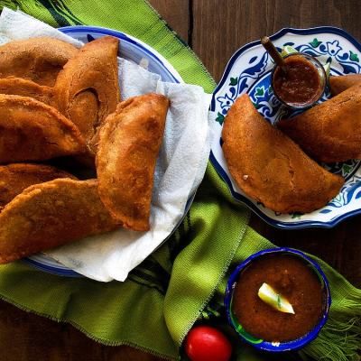Black Bean and Oaxaca Cheese Empanadas | empanadas de frijoles negros y queso oaxaca