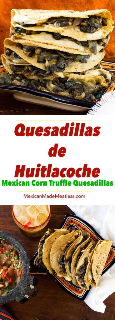 Corn Truffle Quesadillas with Chunky Salsa | A perfect lunch and introduction to huitlacoche.