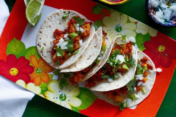 Chorizo And Potato Tacos | Chorizo Con Papas
