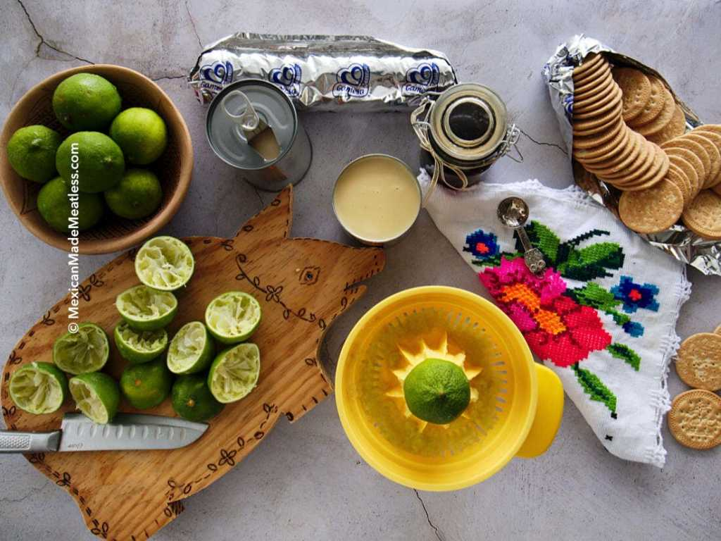 Ingredients for making Mexican Ice Box Lime Cake