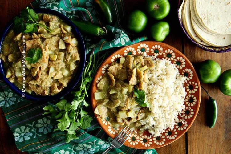 Vegan Chicharron in Salsa Verde Recipe