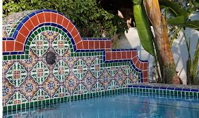 mexican tile in pools mexican tile