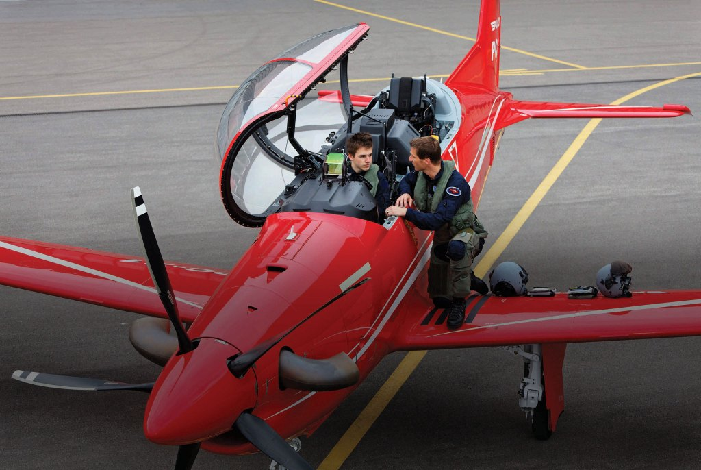 """Stock image of a PC-21 aircraft supplied by Lockheed Martin and Pilatus."""""""