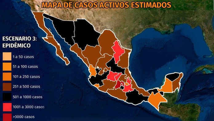 Map of coronavirus in Mexico March 21: Querétaro is already the third state with the most active infections behind CDMX and Edomex