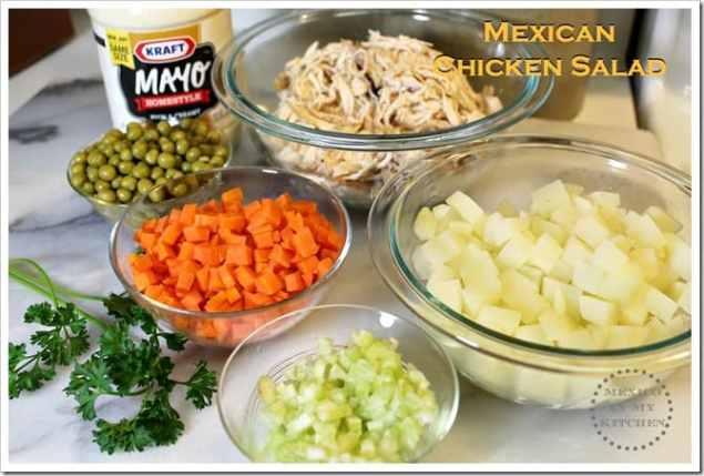 Ensalada de Pollo Mexicana y Coditos con Crema