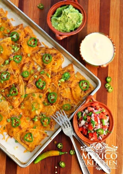 recetas mexicanas, nachos tradicionales