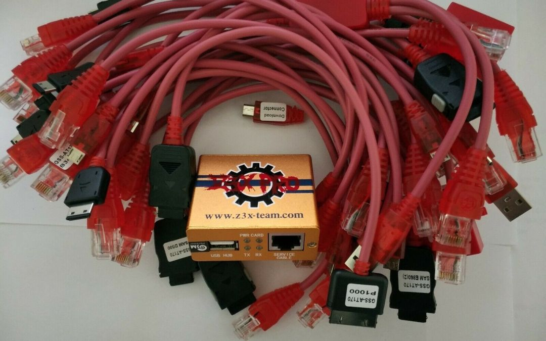 Para Samsung gold z3x pro box desbloqueador activado Reparar teléfono + 29 cables EE. UU.