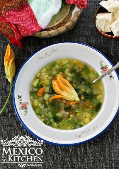Vegetable Garden Soup Sopa de Milpa Recipe