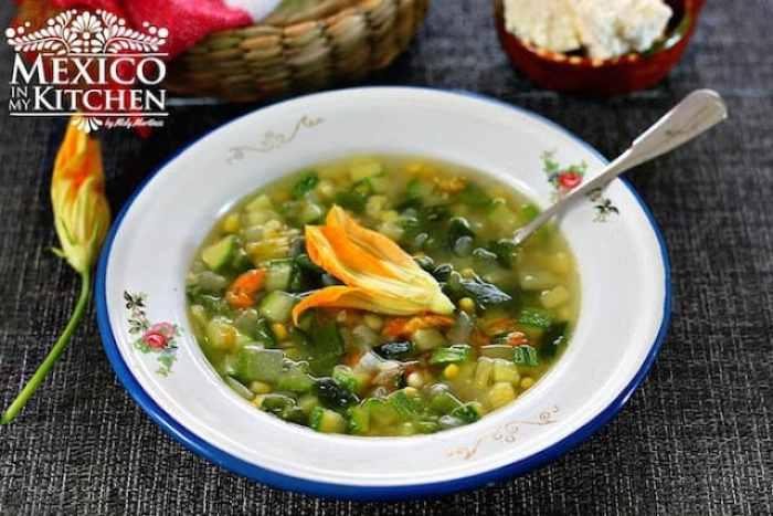 Vegetable garden Soup Recipe Sopa de milpa