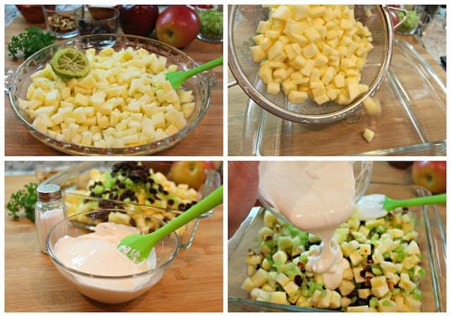 Mexican Christmas Apple Salad