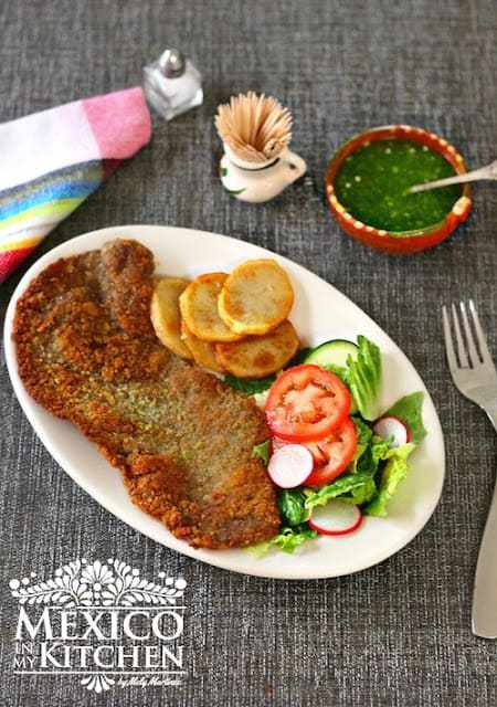 Mexican Milanesa recipe, a step by step photo tutorial