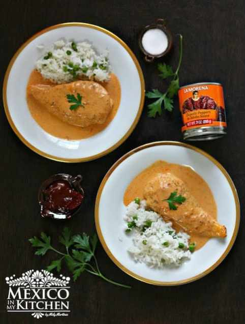 Creamy Chipotle Chicken Breast, and easy and quick recipe.