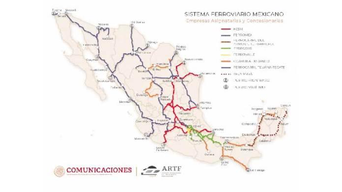 Crean el Mapa Digital del Sistema Ferroviario Mexicano