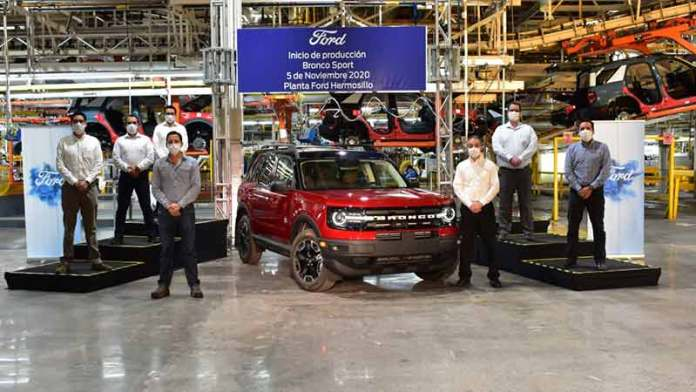 Ford arranca la producción de la SUV Bronco Sport en su planta de Hermosillo
