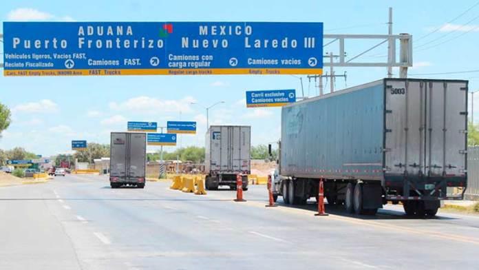 Cruces de camiones vacíos a EU sólo durará cinco meses