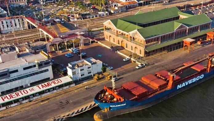 Reportan puertos de Tampico y Altamira incrementos en sus cargas