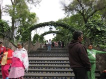 Stairs leading to the spot where Juan Diego saw his visions of the Virgin Mary - The Virgin of Guadalupe.