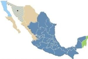 Zonas horarias en México