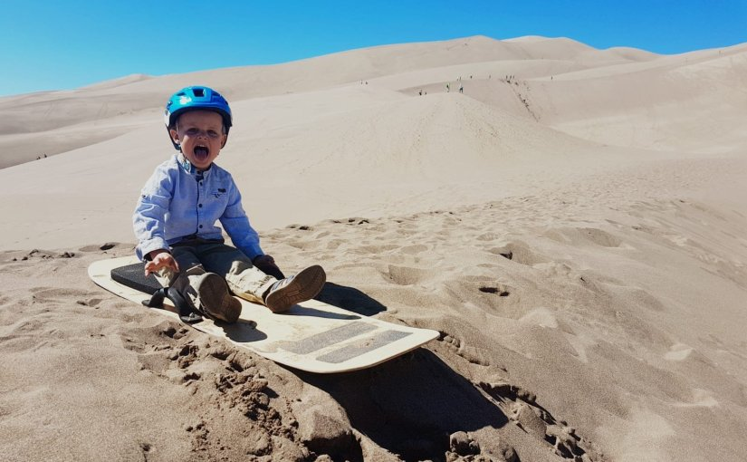 Week 28 – Sand Sledding!