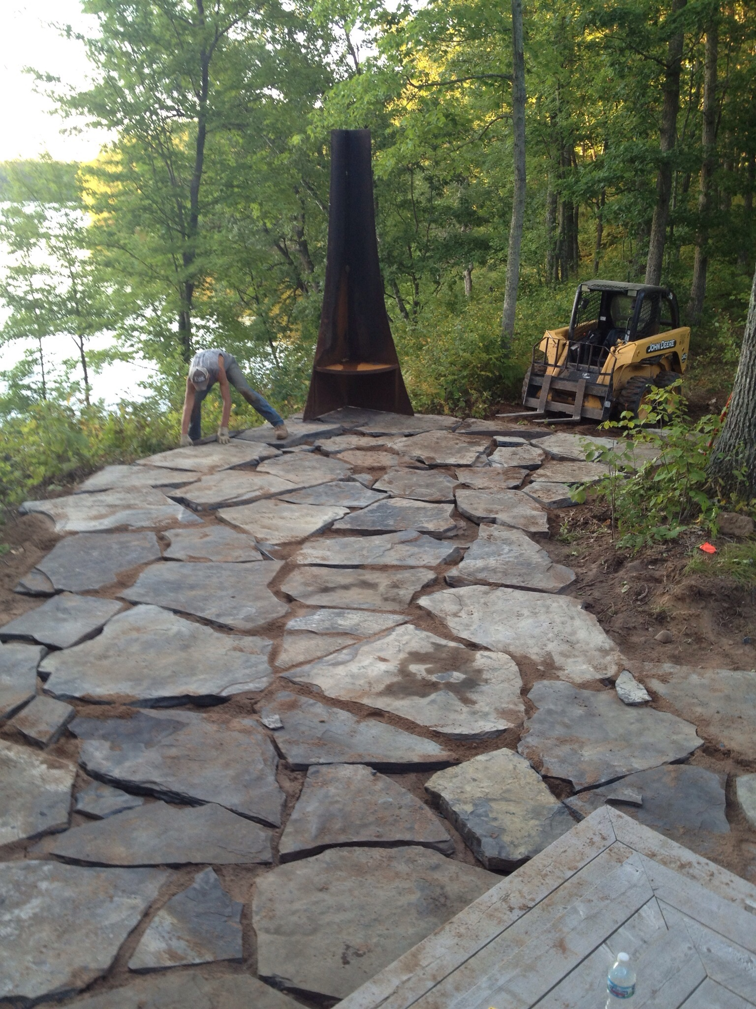 Natural Stone Retaining Wall Construction Wisconsin