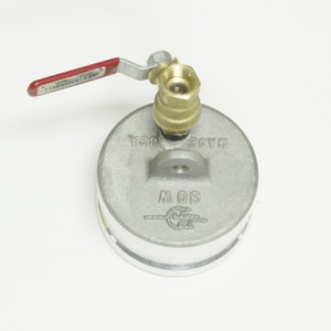 "3"" Male Dust Cap w/ 3/8"" Ball Valve"