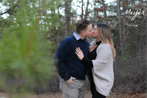 kissing in woods