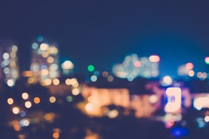 a city with lights