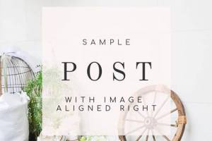 Sample post with image