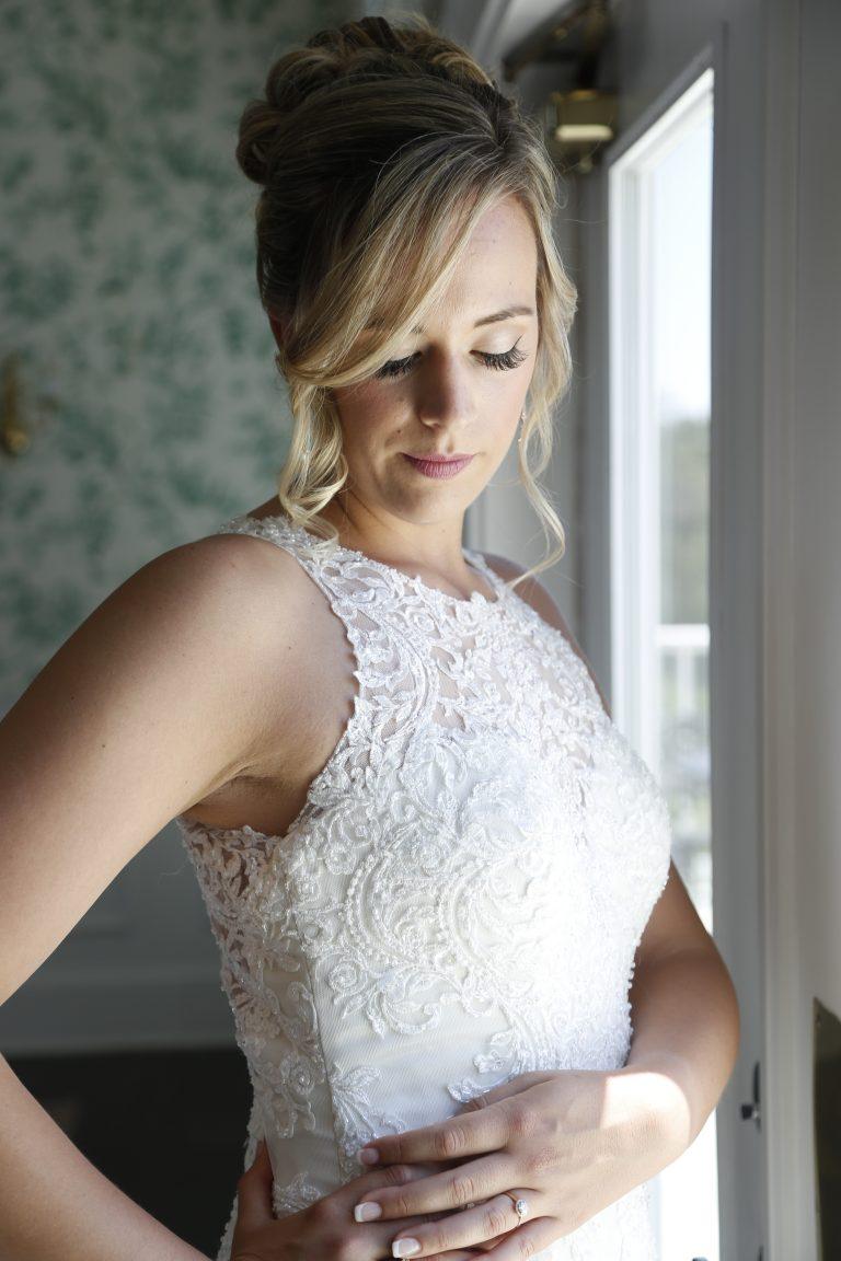 sea oaks country club bride window natural light