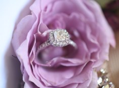 beautiful ring and flower