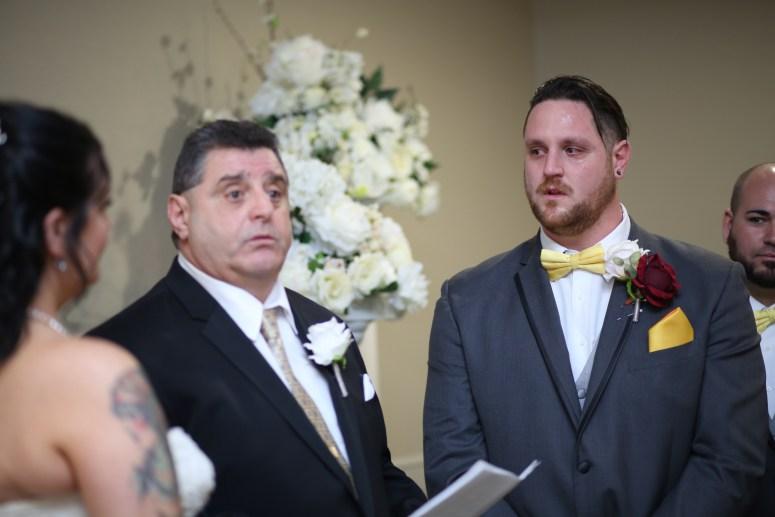 the groom getting emotional