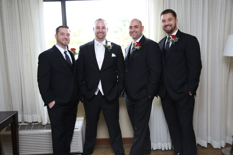 the groom and his men
