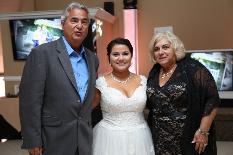 the bride and her family