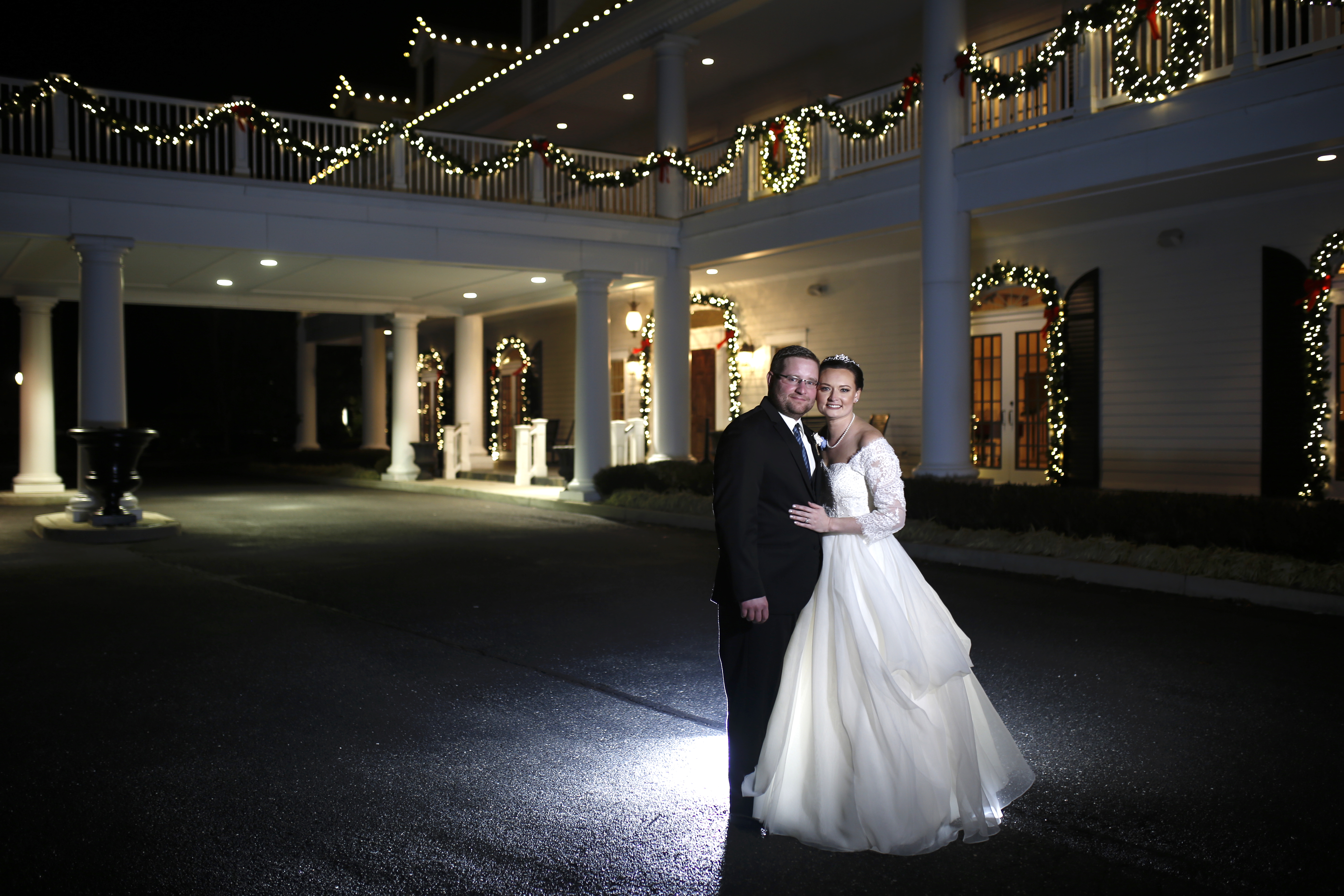 bride and groom at The caridge House