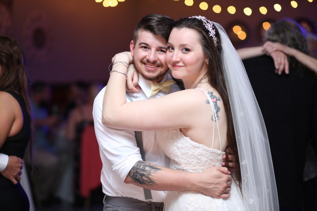 bride and groom dancing at their wedding in NJ